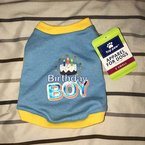 Apparel For Dogs Birthday Shirt Xs